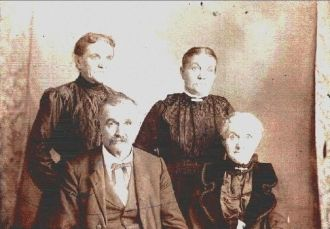 William James Berry with Wife and her Sisters