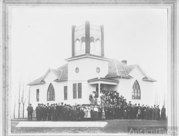 Swedish Baptist Church, Minnesota c1904