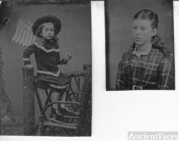Two female children, Indiana