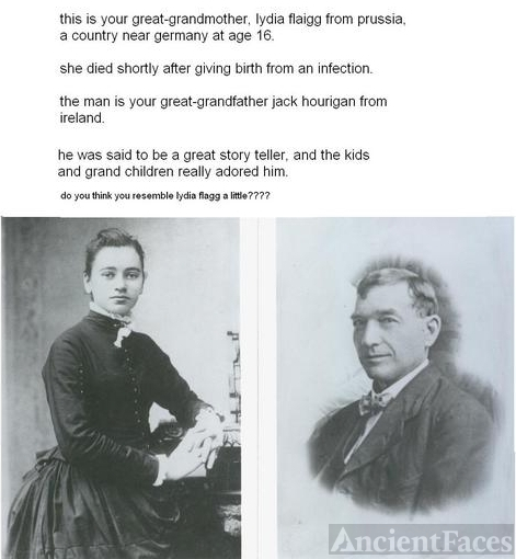 John Hourigan & Lydia Flagg, 1860