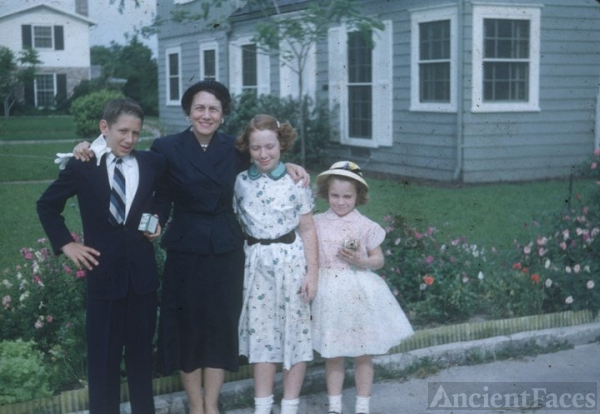 Sinclair family, Easter, ca 1950