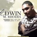 Edwin M Rhodes funeral program