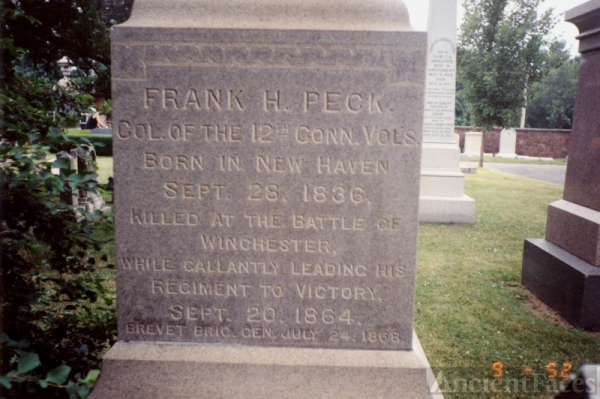 Frank H Peck Tombstone