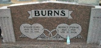 William & Beverly (Stewart) Burns gravesite