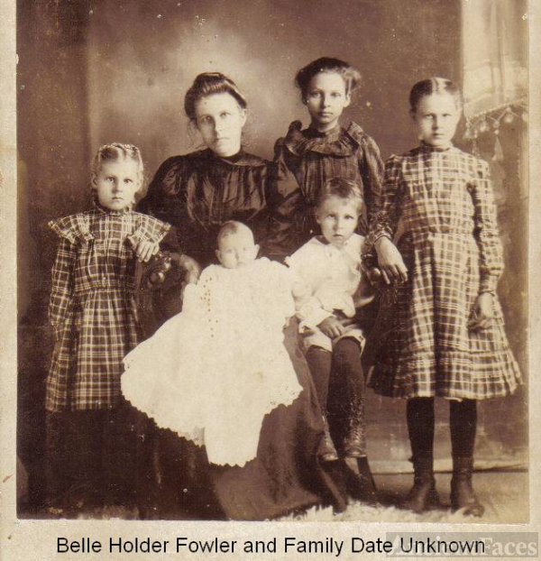 Belle Holder Fowler and Children