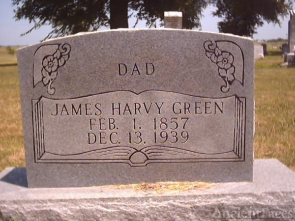 James Harvy Green Headstone