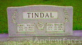 Grave of Elbert & Bonnie Tindal
