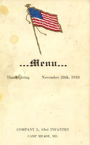 Thanksgiving Day Menu Cover