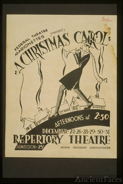 "Federal Theatre Marionettes present ""A Christmas carol"""