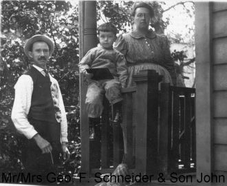 George, Amelia, and John Schneider, 1910 Ohio