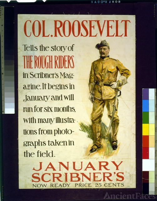 Col. Roosevelt tells the story of the Rough Riders in...