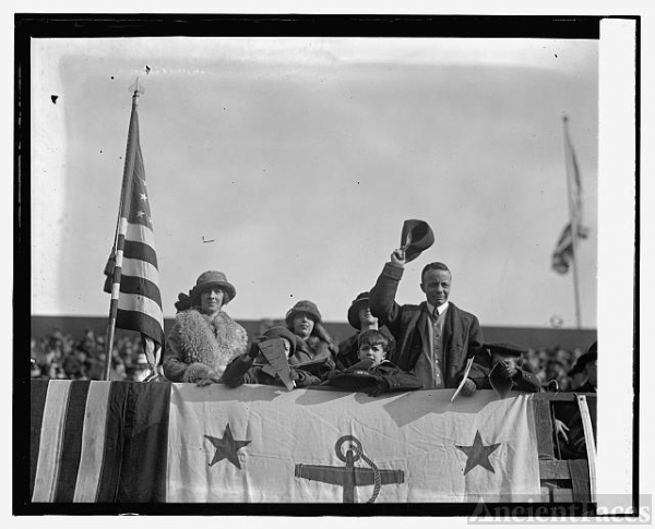 Roosevelts at Marine - Army game, 12/1/23