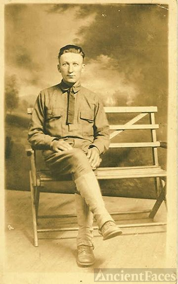 William J. Pesta Sr. In Uniform Ca 1918