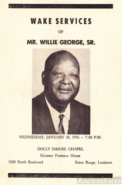 Willie George Sr. funeral