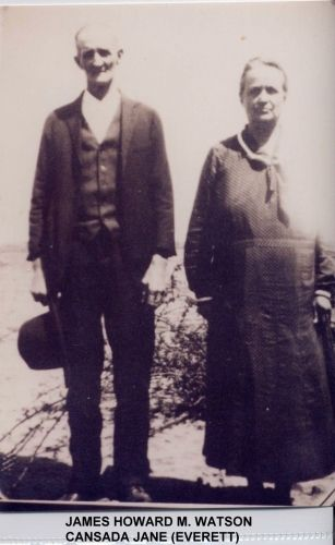 James Howard Madison Watson & Cansada Jane Everett