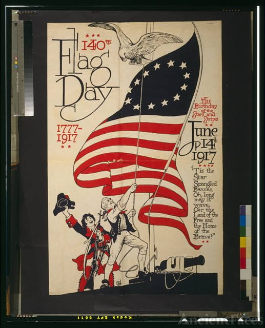 140th flag day, 1777-1917 The birthday of the stars and...
