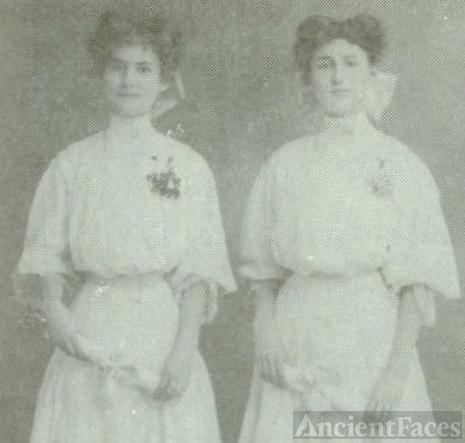 Myrtle and Grace Palmer both married into the Burley family