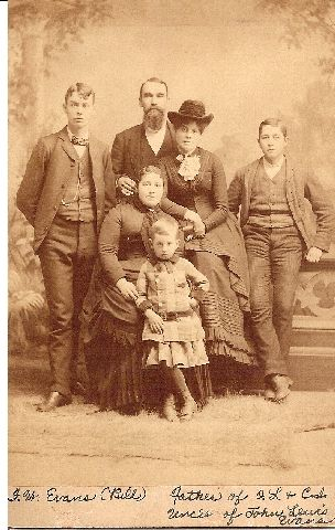 A photo of W.f. Evans Family