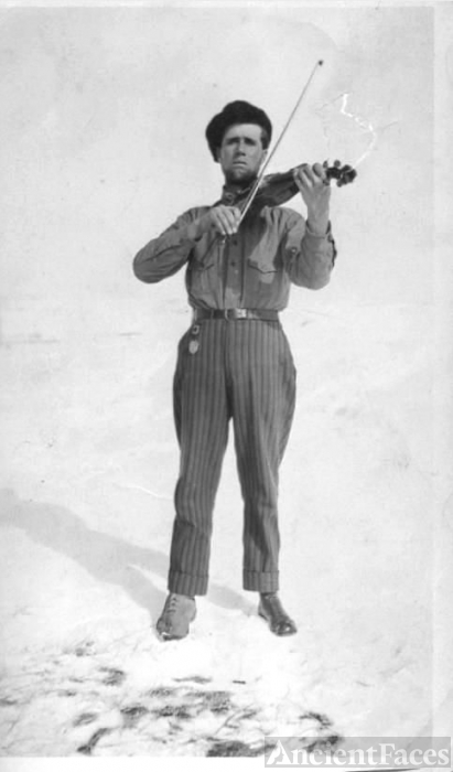 Ernest Jensen and fiddle