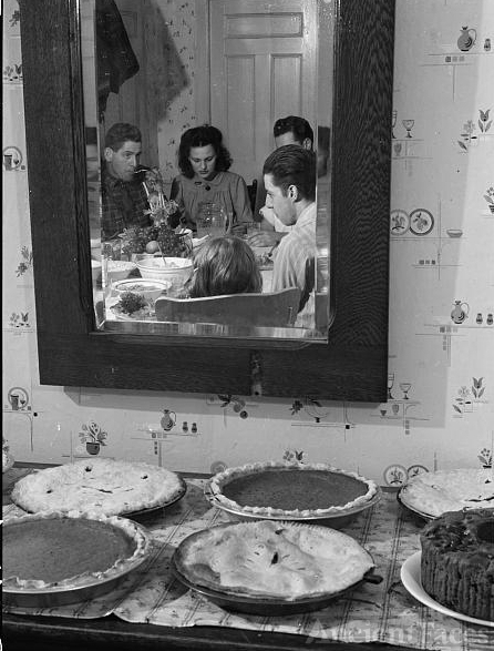 Pumpkin pies and Thanksgiving dinner at the home of Mr....