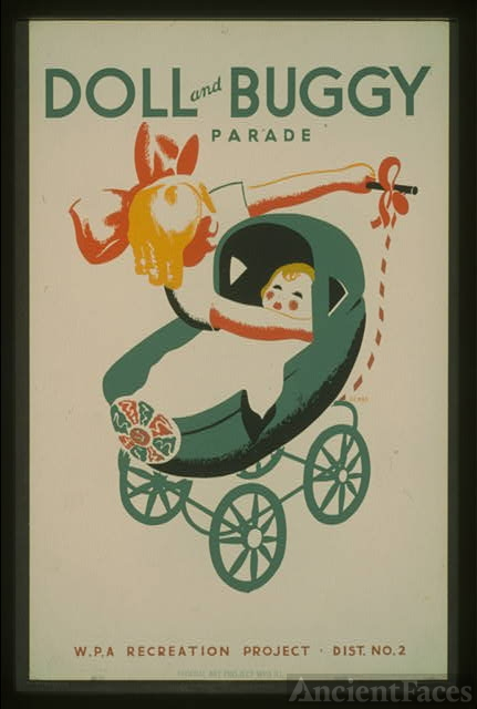 Doll and buggy parade--WPA recreation project, Dist. No....