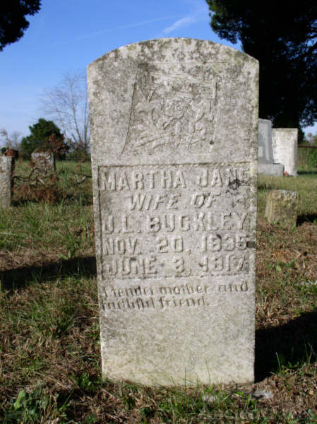 Buckley, Martha Jane-Tombstone
