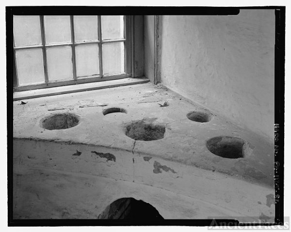 INTERIOR DETAIL, STOVE. SMALL CHARCOAL FIRES WERE LIT IN...
