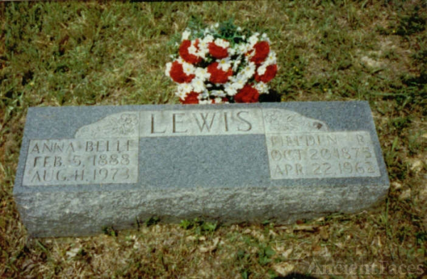 Annabelle and Field Lewis gravesite