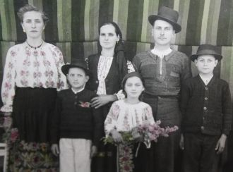 Old country Romanian family