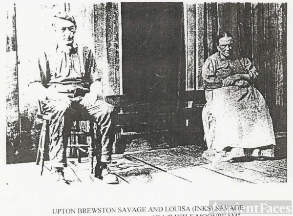 Upton Brewston Savage & His Wife, Louisa Inks