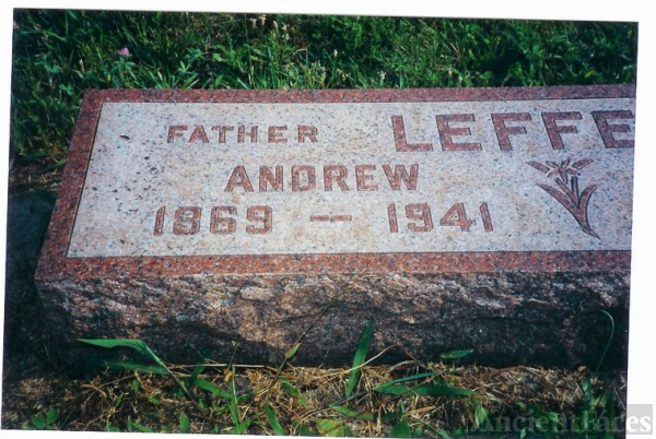 ANDREW STERLING LEFFRW GRAVE STONE