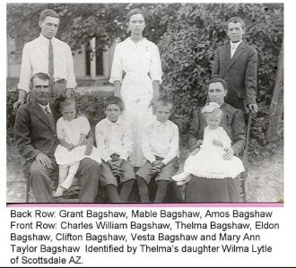 Charles Bagshaw & Mary Ann Taylor Bagshaw  & Family