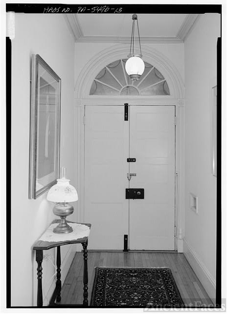 INTERIOR VIEW, CENTER HALL, DOORWAY FROM NORTHEAST (NOTE...