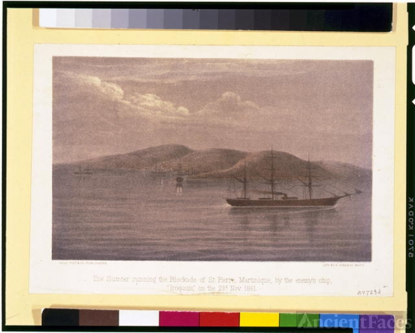 The Sumter running the blockade of St. Pierre,...