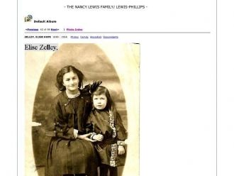 ELSIE HOPE ZELLEY and a child