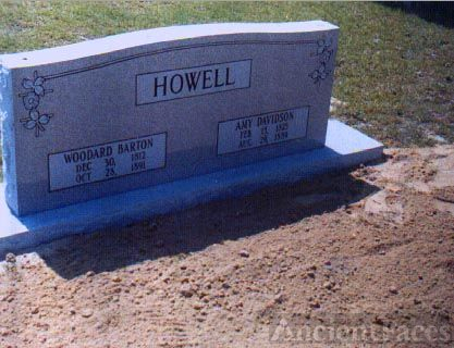 Woodard Barton Howell Headstone