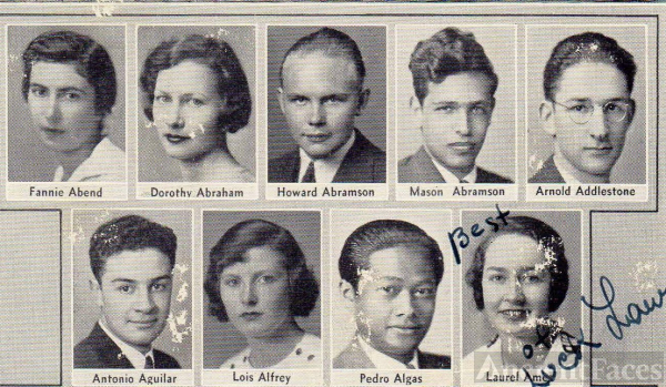 Fannie Abend and 1933 Lowell High CA