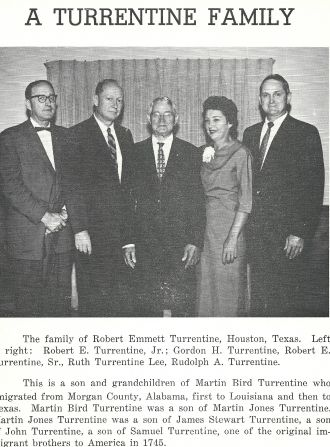 Robert Emmett Turrentine family