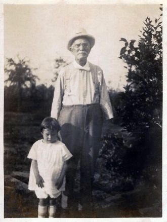 Mary Leonard 1918-2013 and grandfather, Daniel R. Leonard 1846-1924.