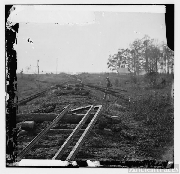 [Virginia. Tracks of the Orange & Alexandria Railroad,...