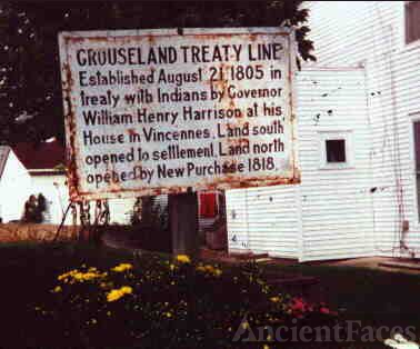 Grouseland Treaty Marker
