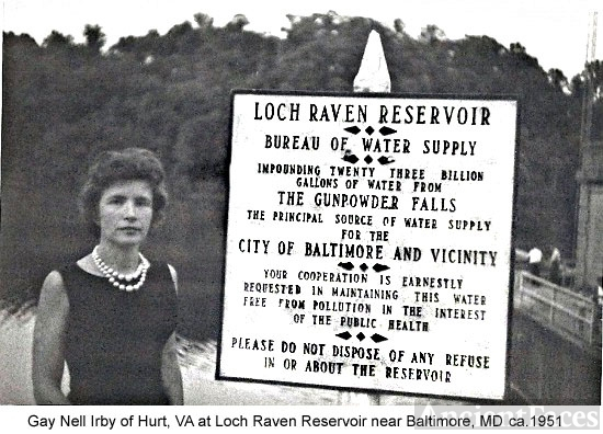 Gay Irby, Loch Raven Dam, Maryland 1951