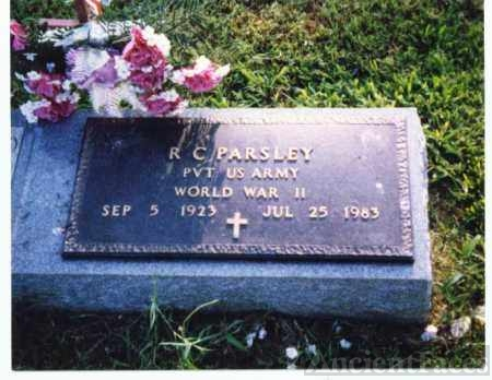 R C Parsley headstone, AR