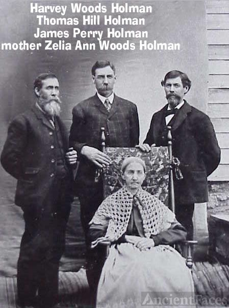 Harvey, Thomas, James, & Zelia Holman, 1890