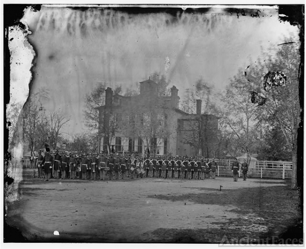 [Washington, D.C. Marine battalion in front of...