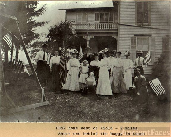Penn Family in front of their home