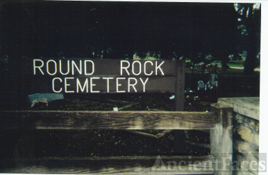 Entrance To The Round Rock Cemetery, Round Rock, Williamson County, Texas