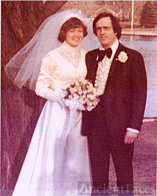 Cynthia Green & Leonard Johnsen on wedding day