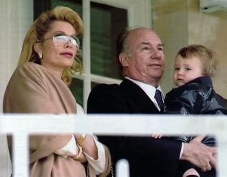 Aga Khan IV with Wife and Child