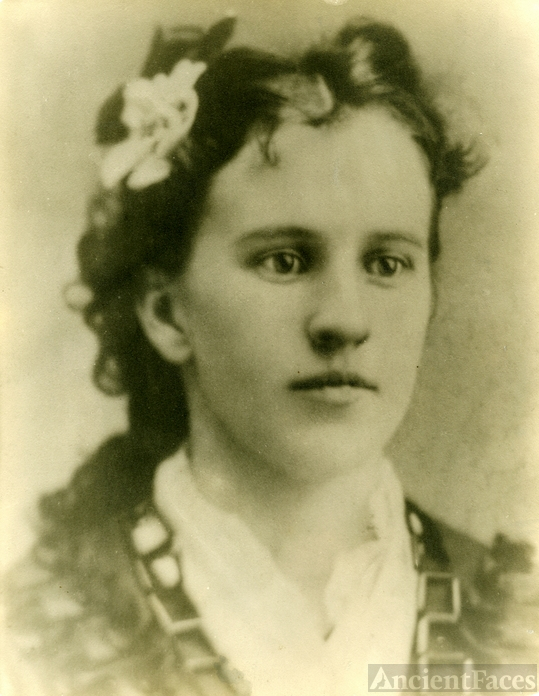 Jennie Belle Everett 1897 Wedding photo